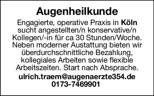 Praxis Fachärztin/arzt für Augenheilkunde Augenheilkunde Arzt / Facharzt