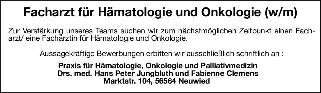 Praxis für Hämatologie, Onkologie und Palliativmedizin Facharzt/ Fachärztin für Hämatologie und Onkologie.  Innere Medizin und Hämatologie und Onkologie, Innere Medizin Arzt / Facharzt