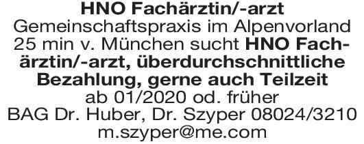 BAG Dr. Huber, Dr. Szyper Fachärztin/-arzt für HNO  Hals-Nasen-Ohrenheilkunde, Hals-Nasen-Ohrenheilkunde Arzt / Facharzt