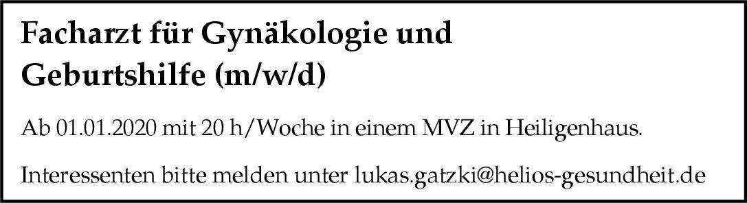 MVZ Facharzt für Gynäkologie und Geburtshilfe (m/w/d)  Frauenheilkunde und Geburtshilfe, Frauenheilkunde und Geburtshilfe Arzt / Facharzt