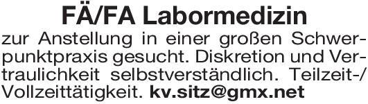 Praxis Facharzt/Fachärztin für Labormedizin Laboratoriumsmedizin Arzt / Facharzt