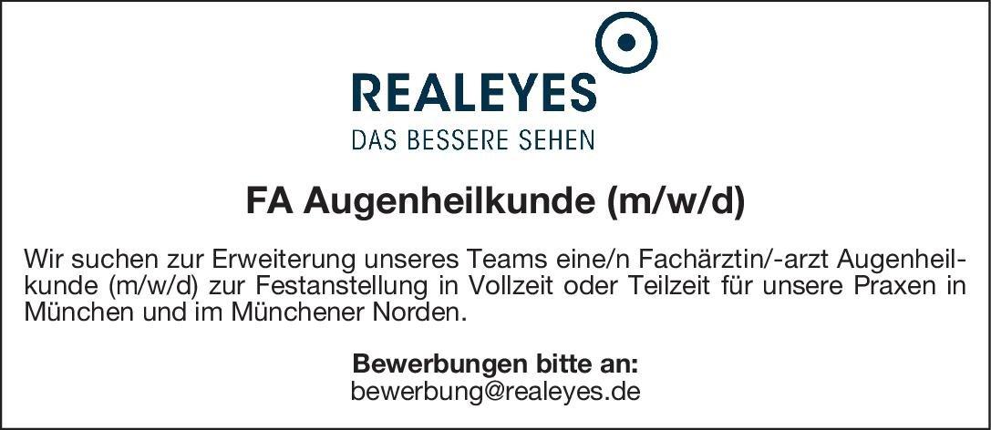 REALEYES FA Augenheilkunde Augenheilkunde Arzt / Facharzt