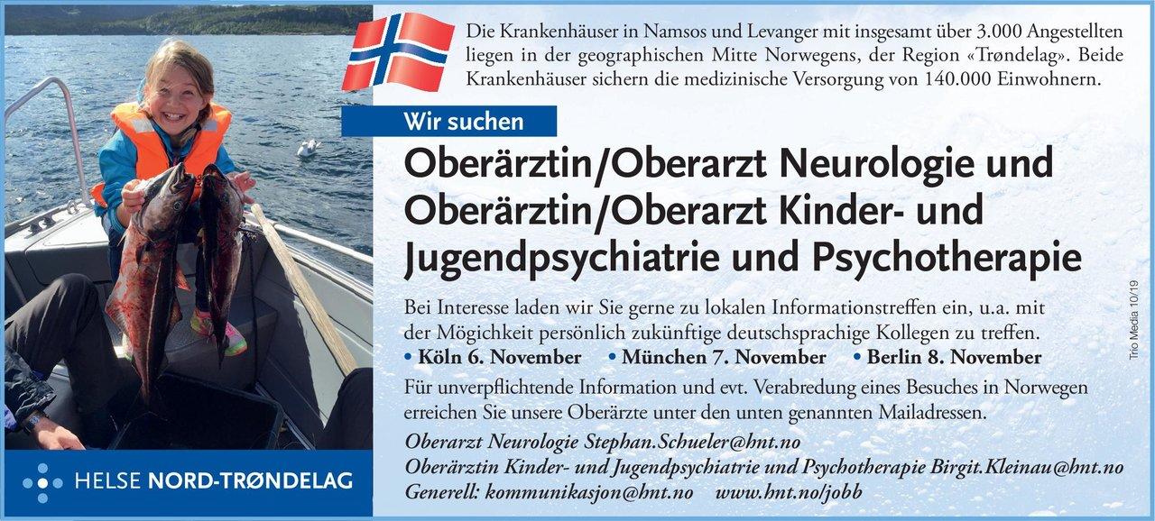 Krankenhäuser  Namsos und Levanger Oberärztin/Oberarzt Neurologie Neurologie Oberarzt