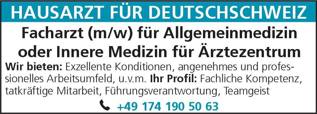 Ärztezentrum Facharzt (m/w) für Allgemeinmedizin oder Innere Medizin  Innere Medizin, Allgemeinmedizin, Innere Medizin Arzt / Facharzt