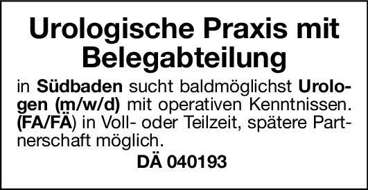 Praxis Urologen (m/w/d) Urologie Arzt / Facharzt