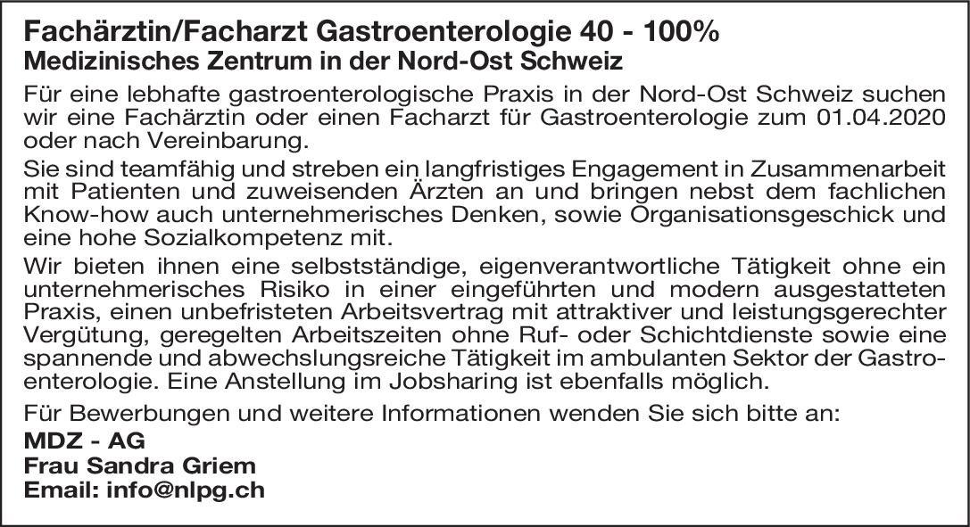 Medizinisches Zentrum Fachärztin/Facharzt Gastroenterologie  Innere Medizin und Gastroenterologie, Innere Medizin Arzt / Facharzt