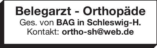 BAG Belegarzt - Orthopäde  Orthopädie und Unfallchirurgie, Chirurgie Arzt / Facharzt