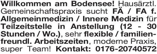 Hausärztl. Gemeinschaftspraxis Fachärztin/Facharzt Allgemeinmedizin/Innere Medizin  Innere Medizin, Allgemeinmedizin, Innere Medizin Arzt / Facharzt