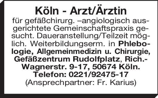 Gefäßzentrum Rudolfplatz Internist/in  Innere Medizin, Innere Medizin Arzt / Facharzt