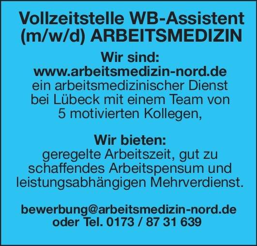 Arbeitsmedizin-Nord Weiterbildungsassistent (m/w/d) für  Arbeitsmedizin Arbeitsmedizin Assistenzarzt / Arzt in Weiterbildung