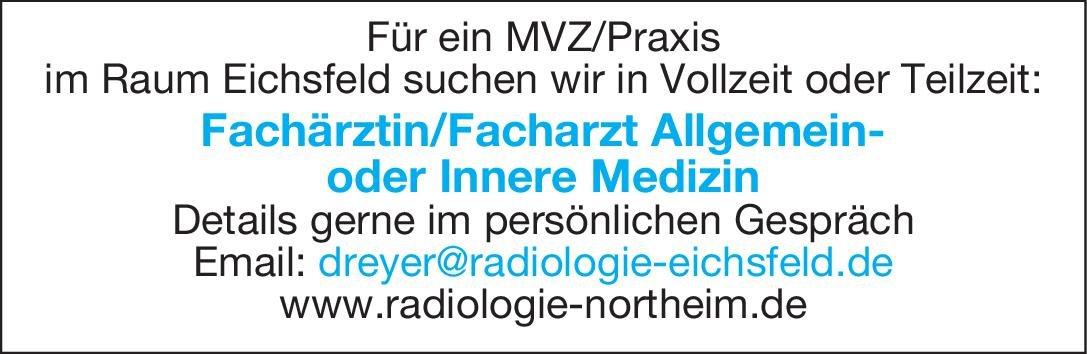 MVZ/Praxis Fachärztin/Facharzt für Allgemein-oder Innere Medizin  Innere Medizin, Allgemeinmedizin, Innere Medizin Arzt / Facharzt