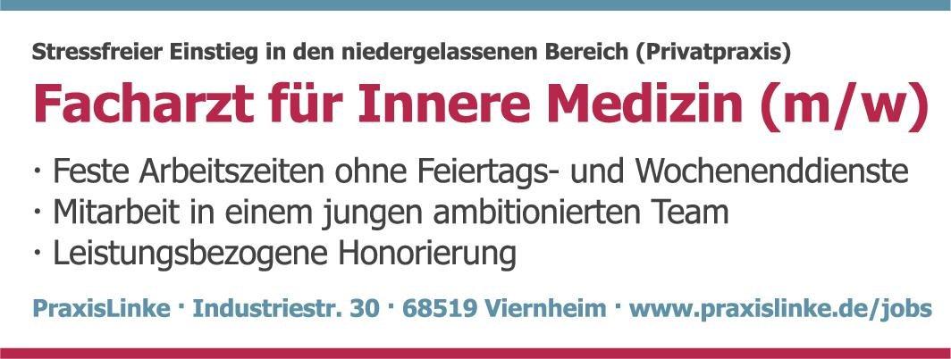 PraxisLinke Facharzt für Innere Medizin (m/w)  Innere Medizin, Innere Medizin Arzt / Facharzt