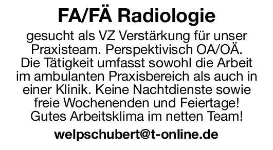 Praxis Facharzt/Fachärztin für Radiologie  Radiologie, Radiologie Arzt / Facharzt