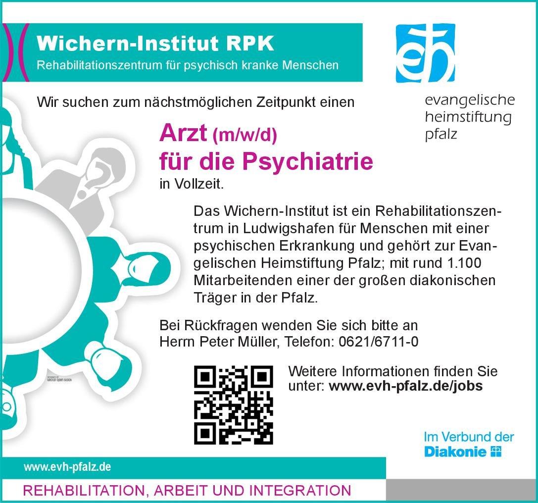Wichern-Institut RPK Arzt (m/w/d) für die Psychiatrie  Psychiatrie und Psychotherapie, Psychiatrie und Psychotherapie Arzt / Facharzt