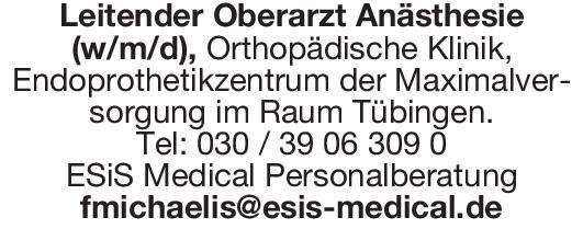 ESiS Medical Personalberatung Leitender Oberarzt Anästhesie (w/m/d Anästhesiologie / Intensivmedizin Oberarzt