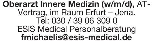 ESiS Medical Personalberatung Oberarzt Innere Medizin (w/m/d)  Innere Medizin, Innere Medizin Oberarzt
