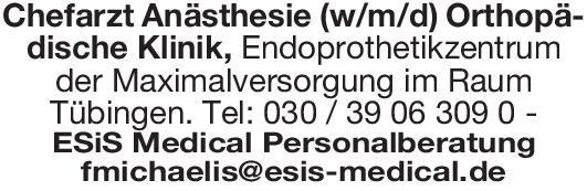 ESiS Medicial Personalberatung Chefarzt Anästhesie (w/m/d) Anästhesiologie / Intensivmedizin Chefarzt