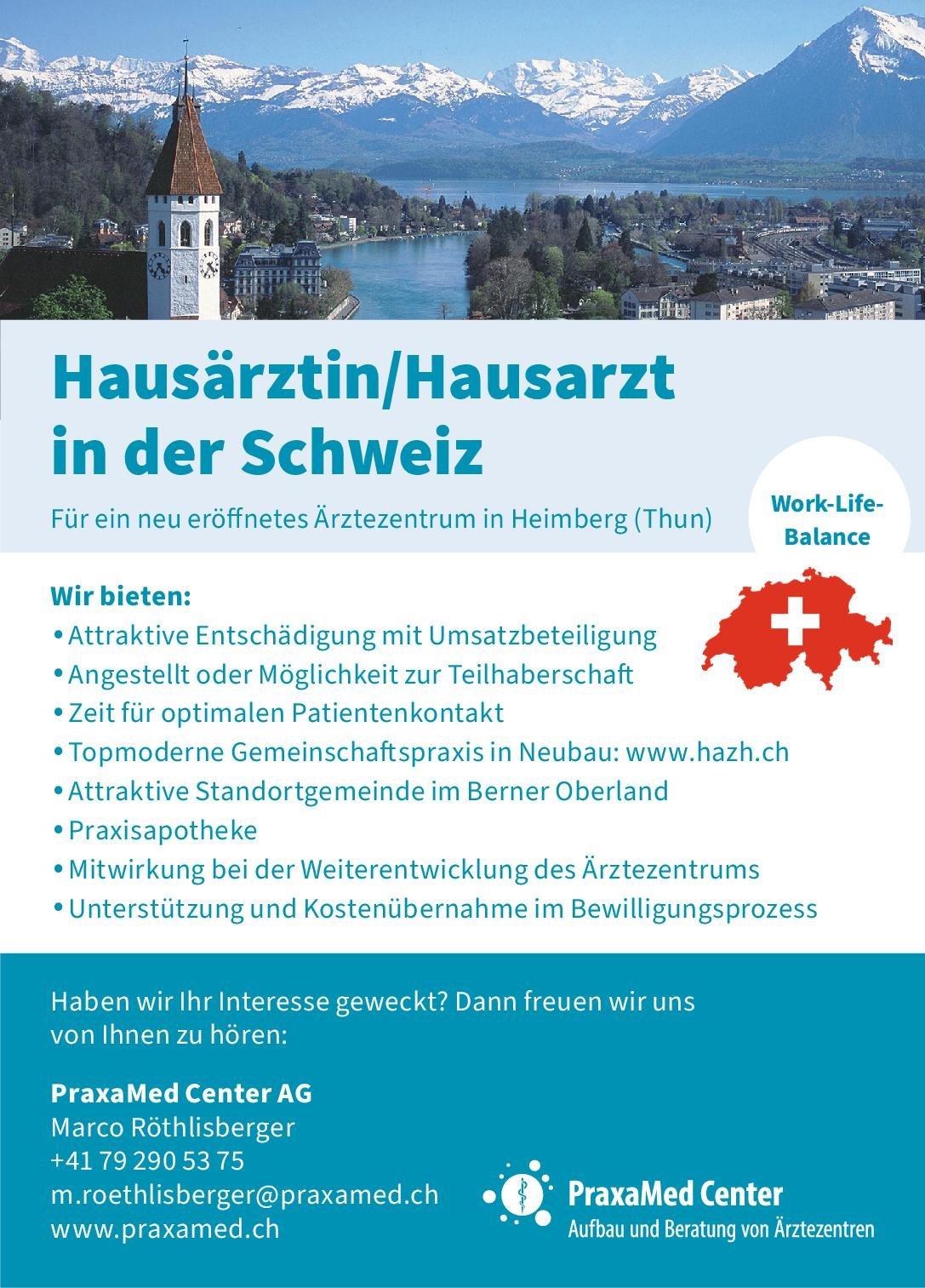 PraxaMed Center AG Hausärztin/Hausarzt  Innere Medizin, Allgemeinmedizin, Innere Medizin Arzt / Facharzt