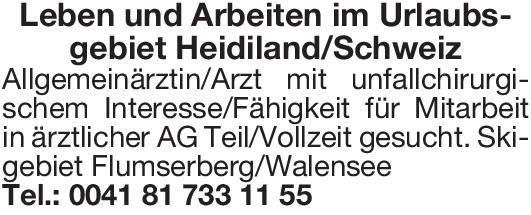 AG Allgemeinärztin/Arzt mit unfallchirurgischem Interesse/Fähigkeit Allgemeinmedizin Arzt / Facharzt