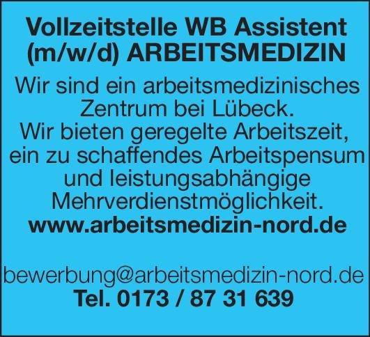 Arbeitsmedizinisches Zentrum Weiterbildungsassistent (m/w/d) für Arbeitsmedizin Arbeitsmedizin Assistenzarzt / Arzt in Weiterbildung