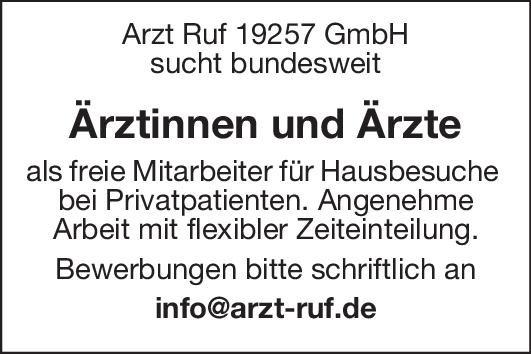 Arzt Ruf 19257 GmbH Ärztinnen und Ärzte * ohne Gebiete Arzt / Facharzt