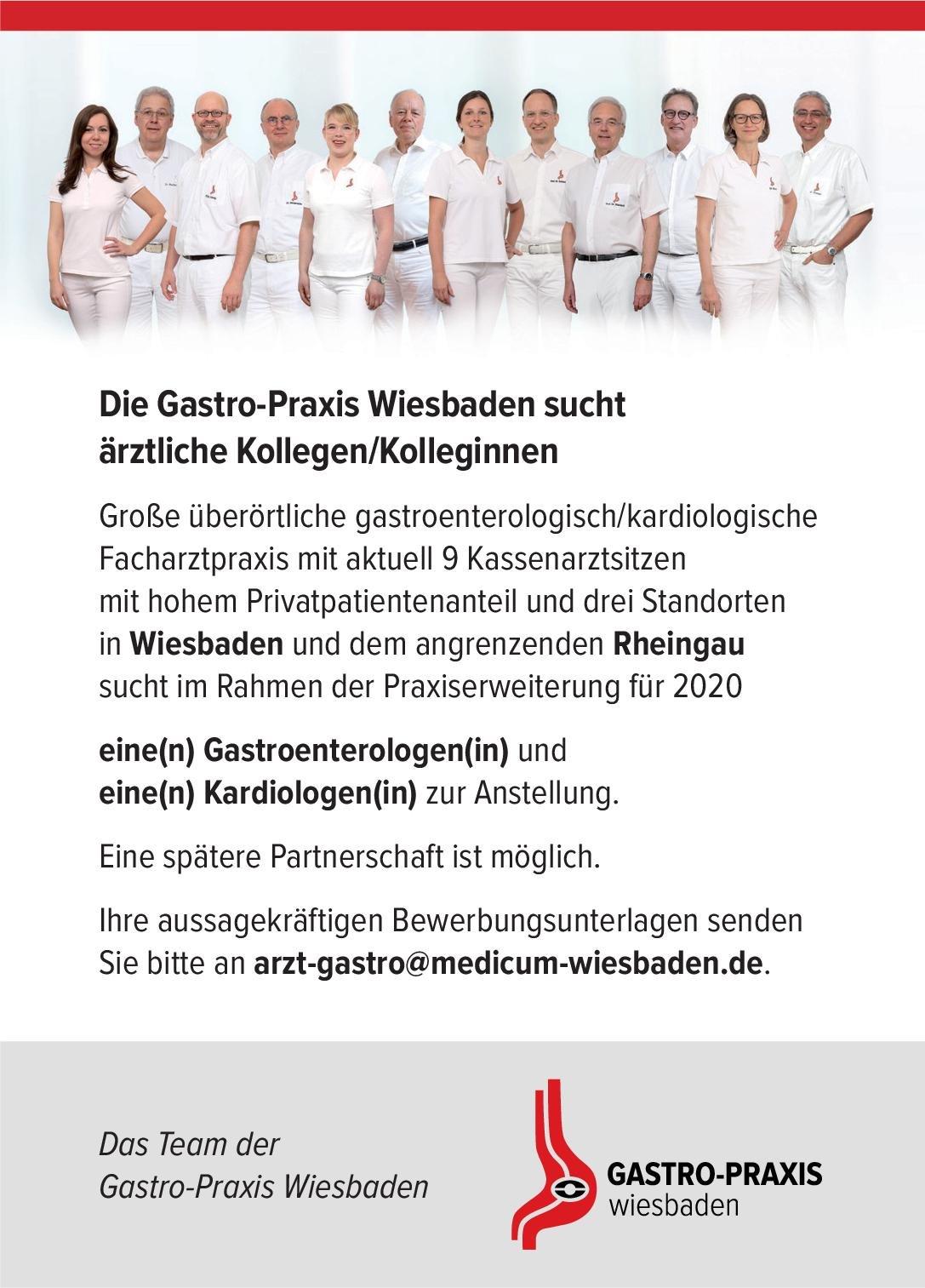 Gastro-Praxis Gastroenterologen(in)  Innere Medizin und Gastroenterologie, Innere Medizin Arzt / Facharzt