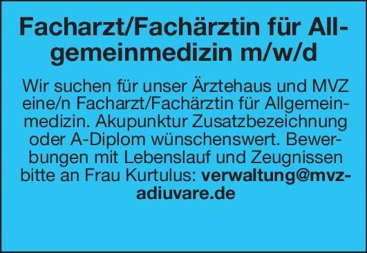 MVZ Facharzt/Fachärztin für Allgemeinmedizin m/w/d Allgemeinmedizin Arzt / Facharzt