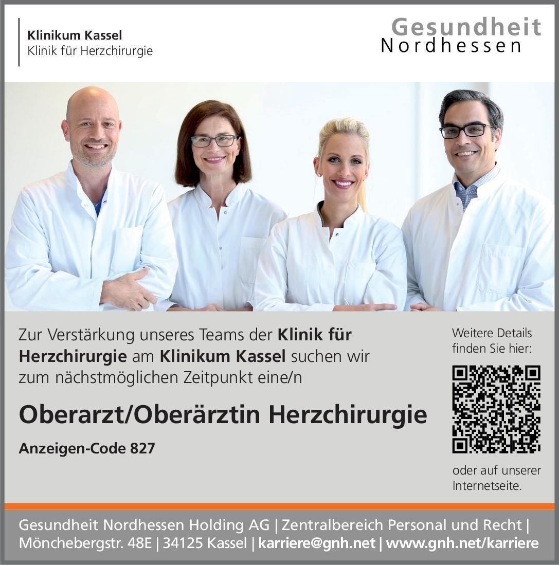Klinikum Kassel Oberarzt/Oberärztin Herzchirurgie  Herzchirurgie, Chirurgie Oberarzt