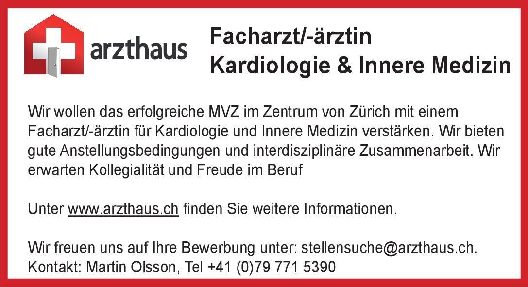 Praxisgemeinschaft arzthaus Facharzt/-ärztin Kardiologie & Innere Medizin  Innere Medizin und Kardiologie, Innere Medizin Arzt / Facharzt