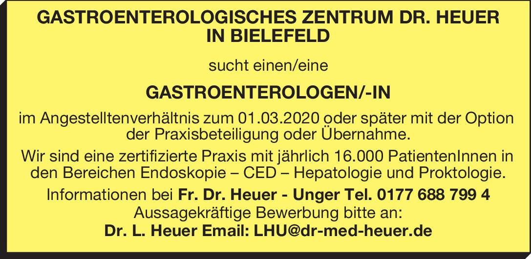 Gastroenterologisches Zentrum Dr. Heuer Gastroenterologe/-in  Innere Medizin und Gastroenterologie, Innere Medizin Arzt / Facharzt