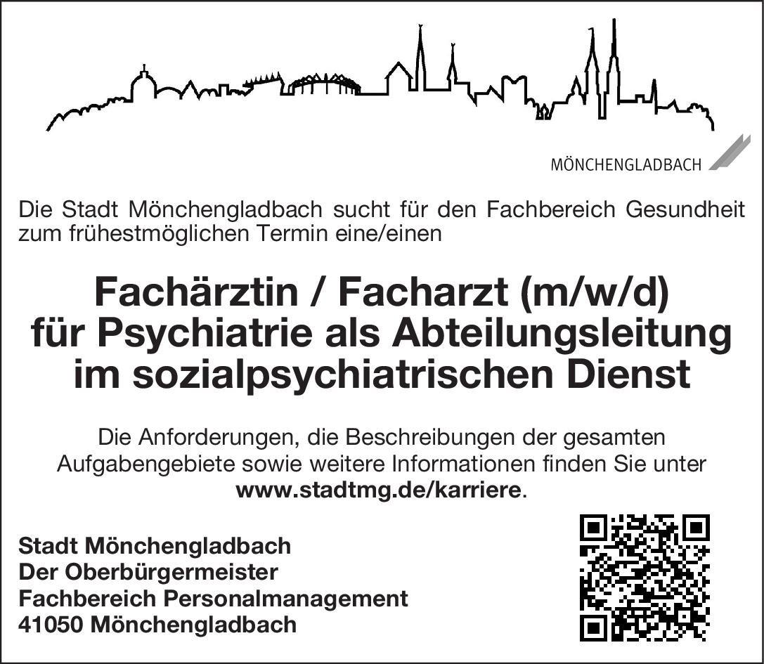 Stadt Mönchengladbach Ärztin / Arzt (m/w/d) Öffentliches Gesundheitswesen Arzt / Facharzt