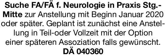 Praxis Facharzt/Fachärztin für Neurologie Neurologie Arzt / Facharzt