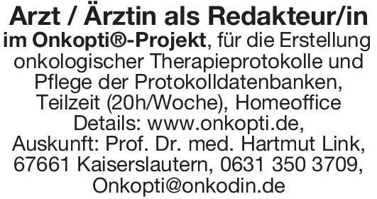 Onkodin GmbH Arzt/Ärztin als Redakteur/in * ohne Gebiete Arzt / Facharzt