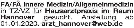 Hausarztpraxis Facharzt/-ärztin Innere / Allgemeinmedizin  Innere Medizin, Allgemeinmedizin, Innere Medizin Arzt / Facharzt