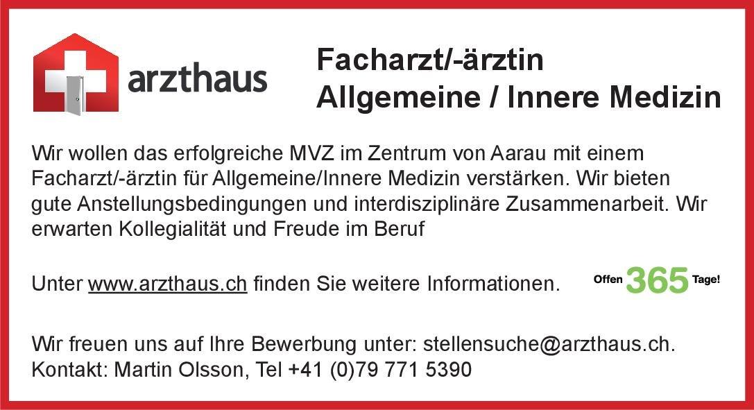 Praxisgemeinschaft arzthaus Facharzt/-ärztin Allgemeine / Innere Medizin  Innere Medizin, Allgemeinmedizin, Innere Medizin Arzt / Facharzt