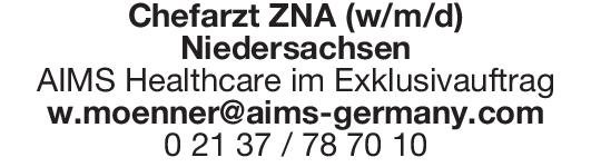 AIMS Healthcare Chefarzt ZNA (w/m/d) Notfallmedizin Chefarzt