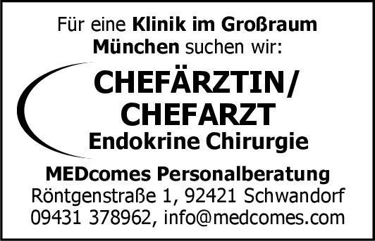 Klinik Chefärztin/Chefarzt Endokrine Chirurgie  Allgemeinchirurgie, Chirurgie Chefarzt