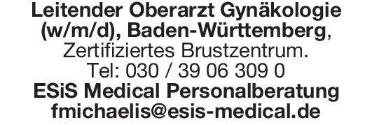 ESiS Medical Personalberatung Leitender Oberarzt Gynäkologie (w/m/d)  Frauenheilkunde und Geburtshilfe, Frauenheilkunde und Geburtshilfe Oberarzt