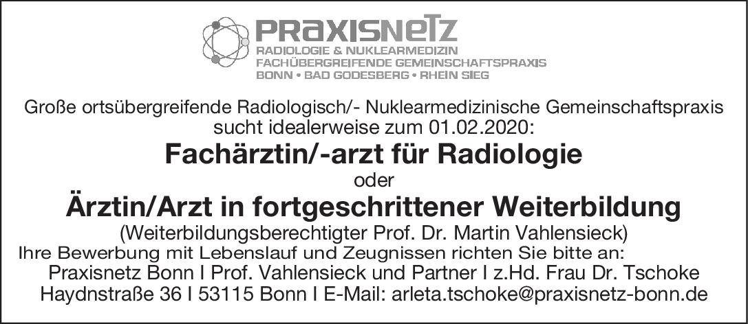 Praxisnetz Bonn I Prof. Vahlensieck und Partner Fachärztin/ Facharzt Radiologie oder Ärztin/ Arzt in forgeschrittener Weiterbildung  Radiologie, Radiologie Arzt / Facharzt