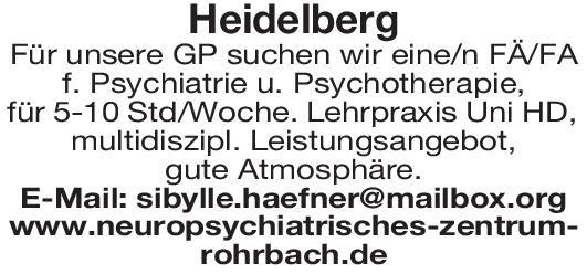 Praxis Fachärztin/Facharzt Psychiatrie und Psychotherapie Psychiatrie und Psychotherapie Arzt / Facharzt