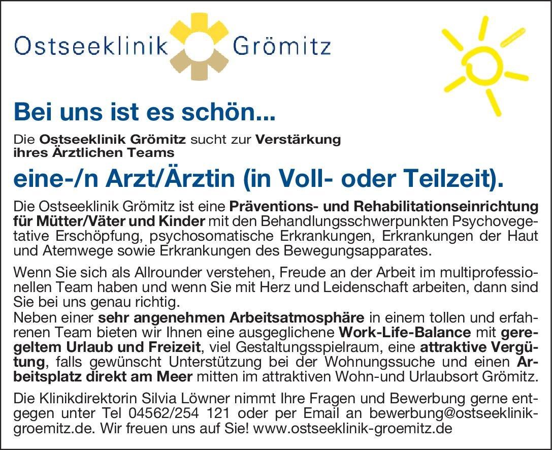 Ostseeklinik Grömitz Arzt/Ärztin Psychosomatische Medizin und Psychotherapie Arzt / Facharzt