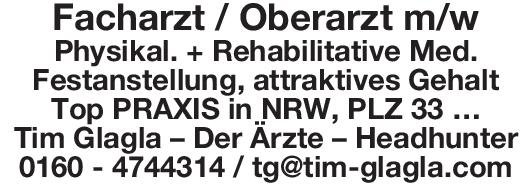 Tim Glagla – Der Ärzte – Headhunter Facharzt / Oberarzt m/w Physikal. + Rehabilitative Med. Physikalische- und Rehabilitative Medizin Arzt / Facharzt, Oberarzt