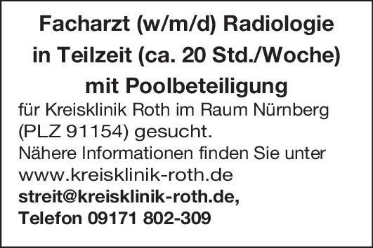 Kreisklinik Roth Facharzt (w/m/d) Radiologie und Nuklearmedizin  Radiologie, Radiologie Arzt / Facharzt