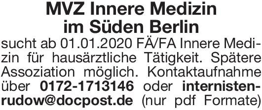 MVZ FÄ/FA Innere Medizin  Innere Medizin, Innere Medizin Arzt / Facharzt