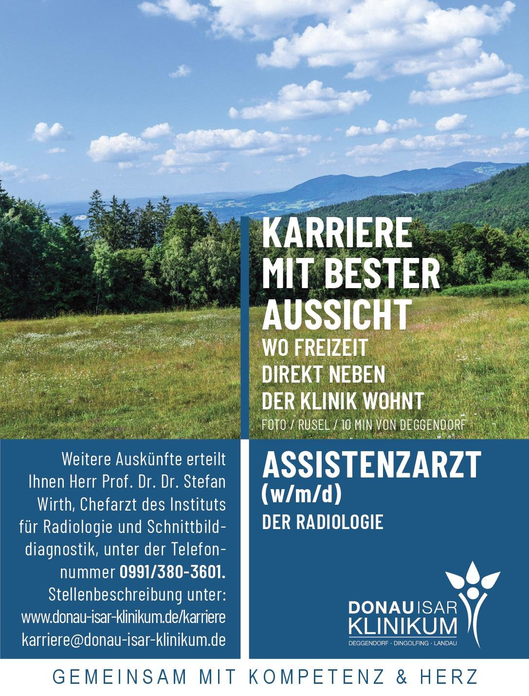 Donauisar Klinikum Deggendorf - Dingolfing - Landau Assistenzarzt (w/m/d) der Radiologie  Radiologie, Radiologie Assistenzarzt / Arzt in Weiterbildung