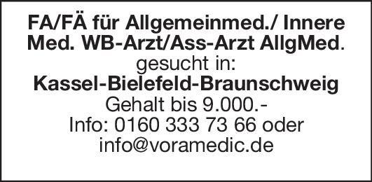 FA/FÄ für Allgemeinmed./Innere Med./Ass-Arzt AllgMed.  Innere Medizin, Allgemeinmedizin, Innere Medizin Arzt / Facharzt, Assistenzarzt / Arzt in Weiterbildung