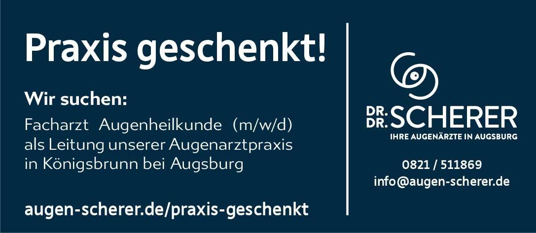 Dr. Dr. Scherer Facharzt Augenheilkunde (m/w/d) Augenheilkunde Arzt / Facharzt