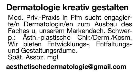 Praxis Dermatologin / Dermatologe Haut- und Geschlechtskrankheiten Arzt / Facharzt