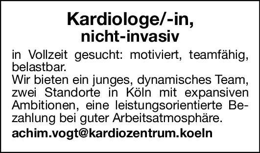 Praxis Kardiologe/ Kardiologin nicht invasiv  Innere Medizin und Kardiologie, Innere Medizin Arzt / Facharzt