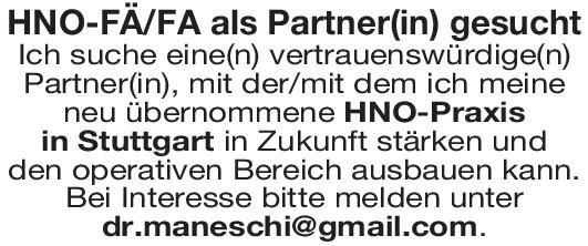 HNO-Praxis Fachärztin/-arzt HNO  Hals-Nasen-Ohrenheilkunde, Hals-Nasen-Ohrenheilkunde Arzt / Facharzt